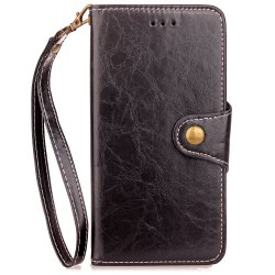 Yc Waxwork Skin Card Lanyard Pu Leather for iPhone X -