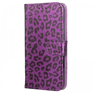 Yc Leopard Print Card Lanyard Pu Leather for iPhone X -