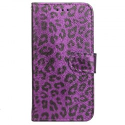 Yc Leopard Print Card Lanyard Pu Leather pour iPhone 8 -