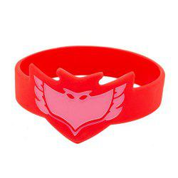 Masks Silicone Bracelet Wrist Band for Kids Cosplay Party - RED
