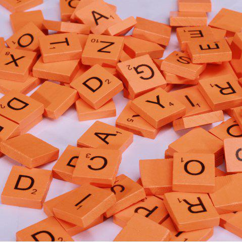 Latest 100 Pcs Uppercase Wooden Scrabble Tiles Crafts Wood Alphabets for Kids
