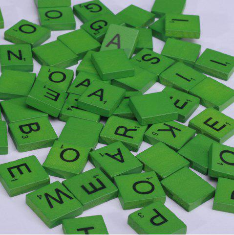 Unique 100 Pcs Uppercase Wooden Scrabble Tiles Crafts Wood Alphabets for Kids