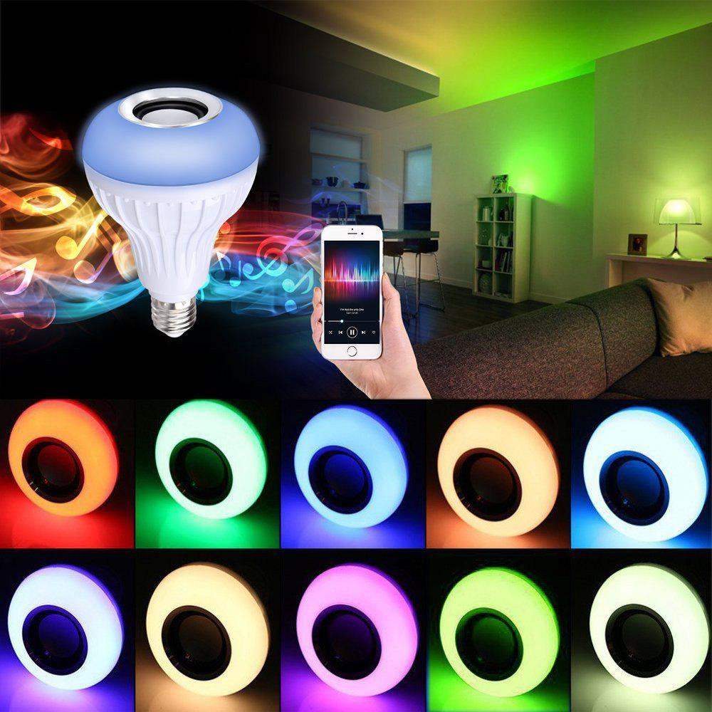 Supli Led 10W Rgb Smart Light Bulb Speaker Generation Ii with Updated Remote Control - New Function of Light Flashing As Music GoesHOME<br><br>Color: RGB;