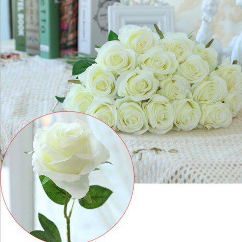 Outfits 10 Branch Silk White Roses Wedding Party Decoration Home Decoration Artificial Flowers