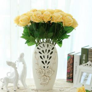 10 Branch Silk Yellow Roses Wedding Party Decoration Home Decoration Artificial Flowers -