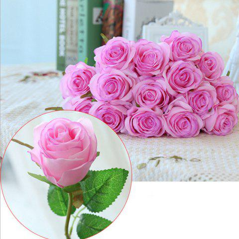 Best 10 Branch Silk light Purple Roses Wedding Party Decoration Home Decoration Artificial Flowers