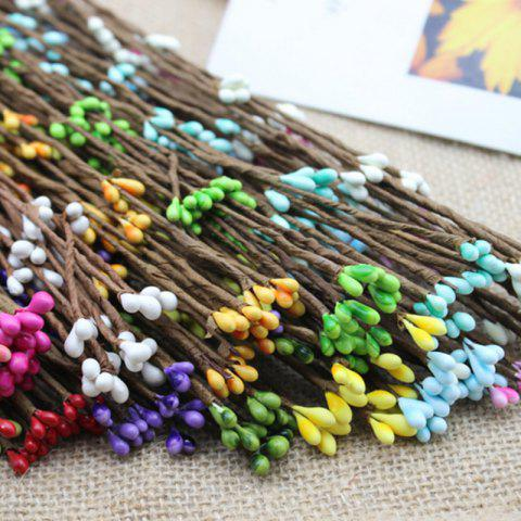 Store 10 Branch Simulation Rattan Diy Garland Decorate Artificial Flower COLORMIX