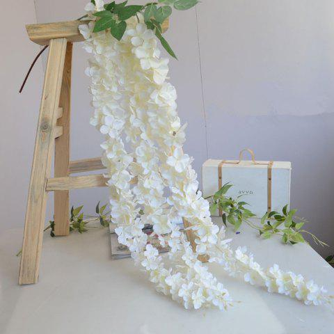 Shop 3 Heads 1 Branch Hydrangea String Wedding Site Layout Artificial Flower 140CM WHITE