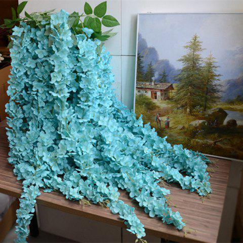 Outfits 3 Heads 1 Branch Hydrangea String Wedding Site Layout Artificial Flower 140CM - BLUE  Mobile
