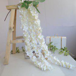 3 Heads 1 Branch Hydrangea String Wedding Site Layout Artificial Flower 140CM - WHITE