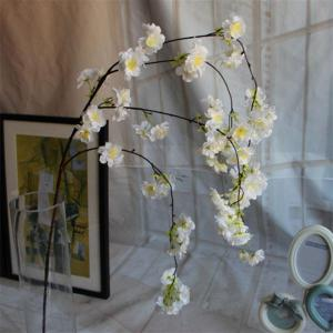 1 Branch Simulation Droop Sakura Wedding Site Layout Fleur artificielle 140CM - Blanc