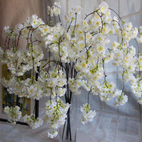 1 Branch Simulation Droop Sakura Wedding Site Layout Fleur artificielle 140CM Blanc
