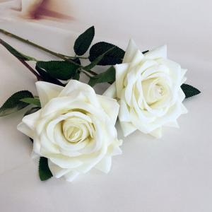 1 Branch Lint Hemming Rose Home Decoration Artificial Flower - WHITE