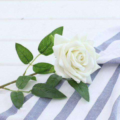 Outfit 1 Branch Lint Hemming Rose Home Decoration Artificial Flower - WHITE  Mobile