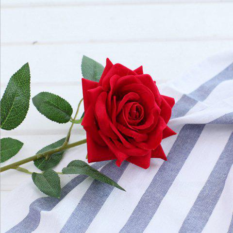 Online 1 Branch Lint Hemming Rose Home Decoration Artificial Flower - RED  Mobile