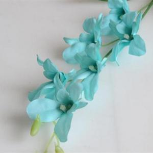 1 Branch Simulation Cattleya Wedding Decorate Home Decoration Artificial Flower - BLUE
