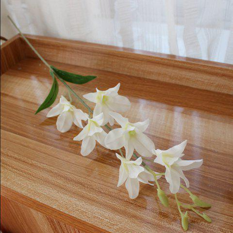 Unique 1 Branch Simulation Cattleya Wedding Decorate Home Decoration Artificial Flower - WHITE  Mobile