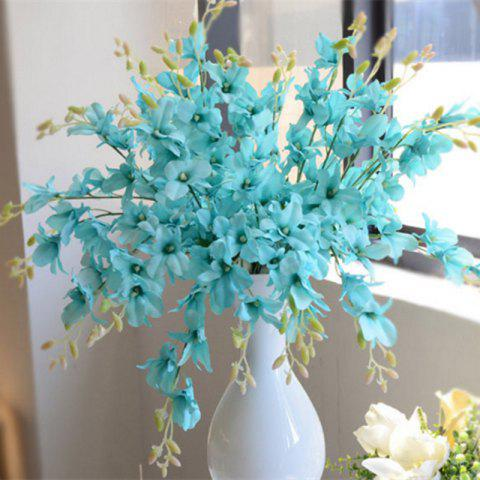 Shops 1 Branch Simulation Cattleya Wedding Decorate Home Decoration Artificial Flower BLUE