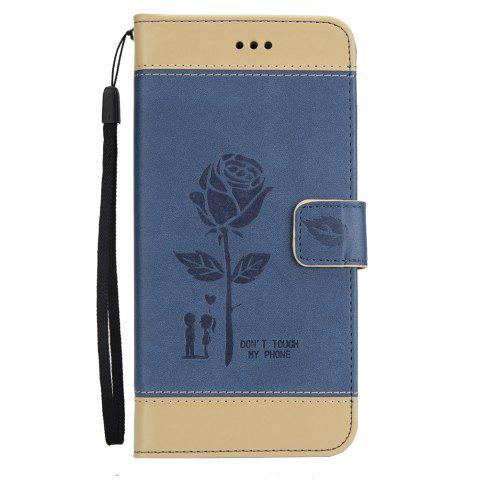 Hot Wkae Mixed Colors Rose Flower Frosted Premium Leather Wallet Stand Case Cover with Lanyard Card Slots for Samsung Galaxy S8