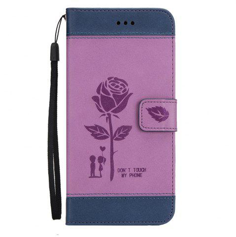 Sale Wkae Mixed Colors Rose Flower Frosted Premium Leather Wallet Stand Case Cover with Lanyard Card Slots for Samsung Galaxy S8