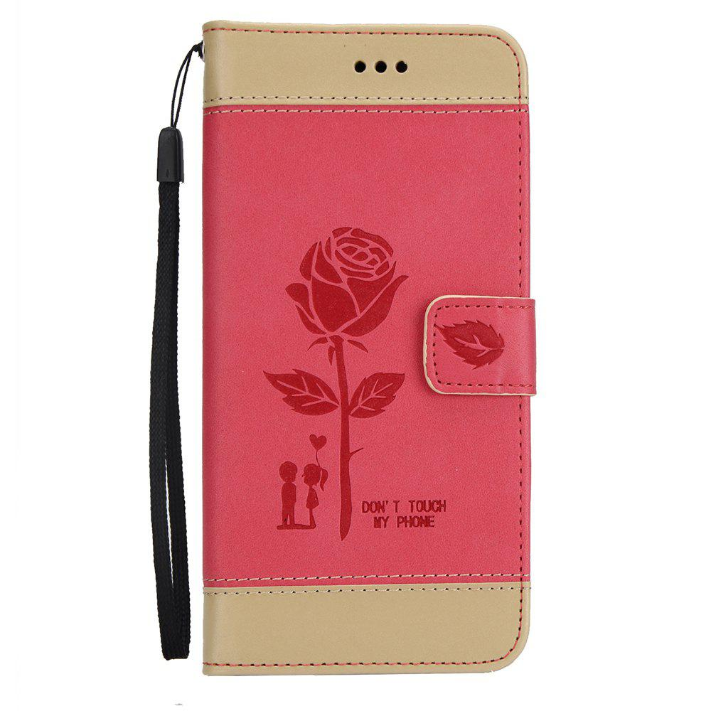 Online Wkae Mixed Colors Rose Flower Frosted Premium Leather Wallet Stand Case Cover with Lanyard Card Slots for Samsung Galaxy S8