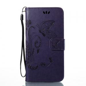 Wkae Flowers Embossing Pattern PU Leather Flip Stand Case Cover for HTC U11 -