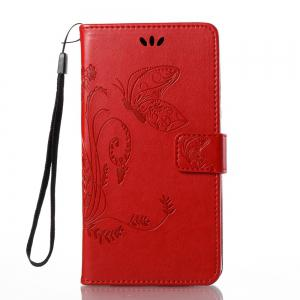 Wkae Flowers Embossing Pattern PU Leather Flip Stand Case Cover for Huawei GR5 2017 -