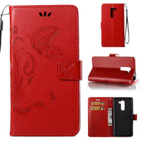 Hot Wkae Flowers Embossing Pattern PU Leather Flip Stand Case Cover for Huawei GR5 2017