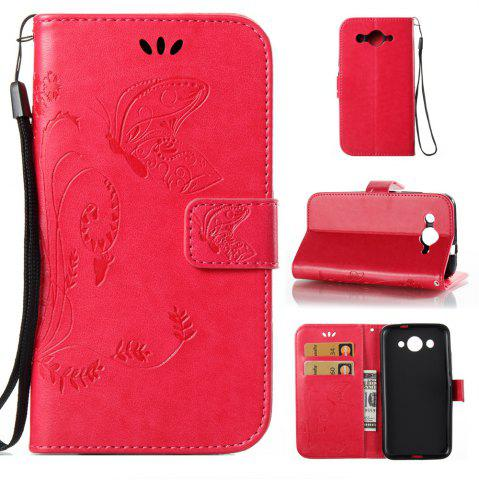Buy Wkae Flowers Embossing Pattern PU Leather Flip Stand Case Cover for HUAWEI Y3 2017