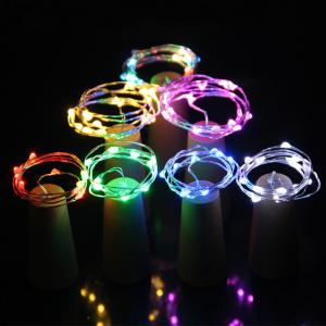 Jueja Multicolor LED Sliver Wire String Light with Bottle Stopper for Glass Craft Valentines Wedding Decoration Lamp Party -
