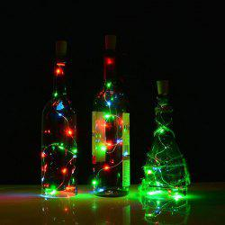 Jueja Multicolor LED Sliver Wire String Light with Bottle Stopper for Glass Craft Valentines Wedding Decoration Lamp Party - WHITE