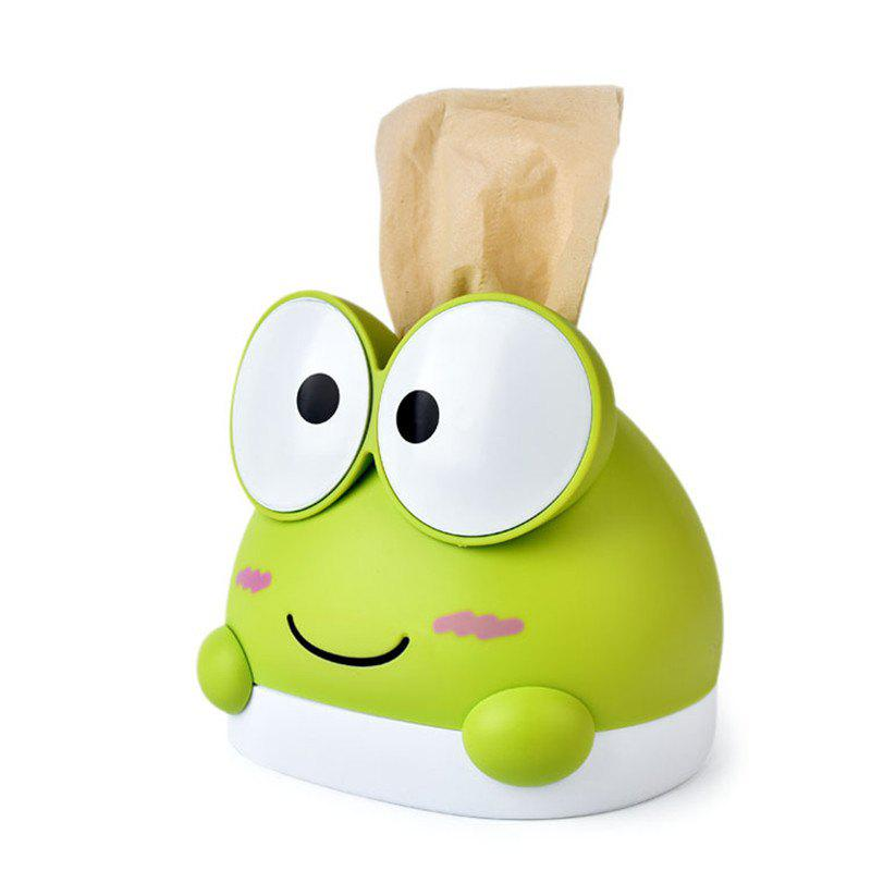 Creativity Lovely Frog Tissue Box for StorageHOME<br><br>Color: GREEN;