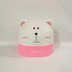 Créativité Lovely Polar Bear Tissue Box for Storage - ROSE PÂLE
