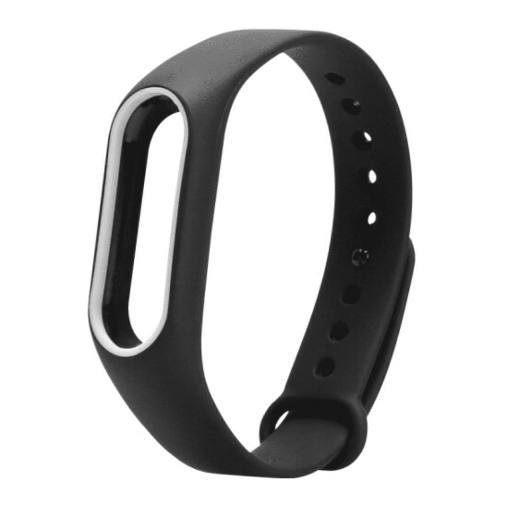 Smart Wrist Watch Strap for Xiaomi Miband 2HOME<br><br>Color: BLACK WHITE;