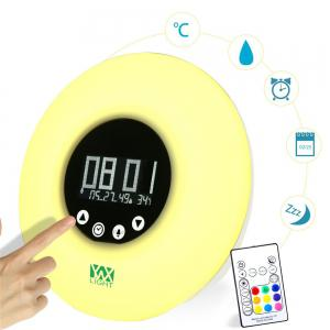 Ywxlight Wake Up Ligh Alarm Clock with Sunrise Simulation for A Natural Wakeup - RGB