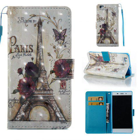 Shops 35 Towers 3D Painted Pu Phone Case for Huawei P8 Lite