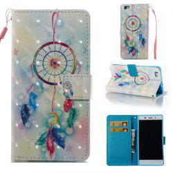 Feather Wind Chimes 3D Painted Pu Phone Case for Huawei P8 Lite -