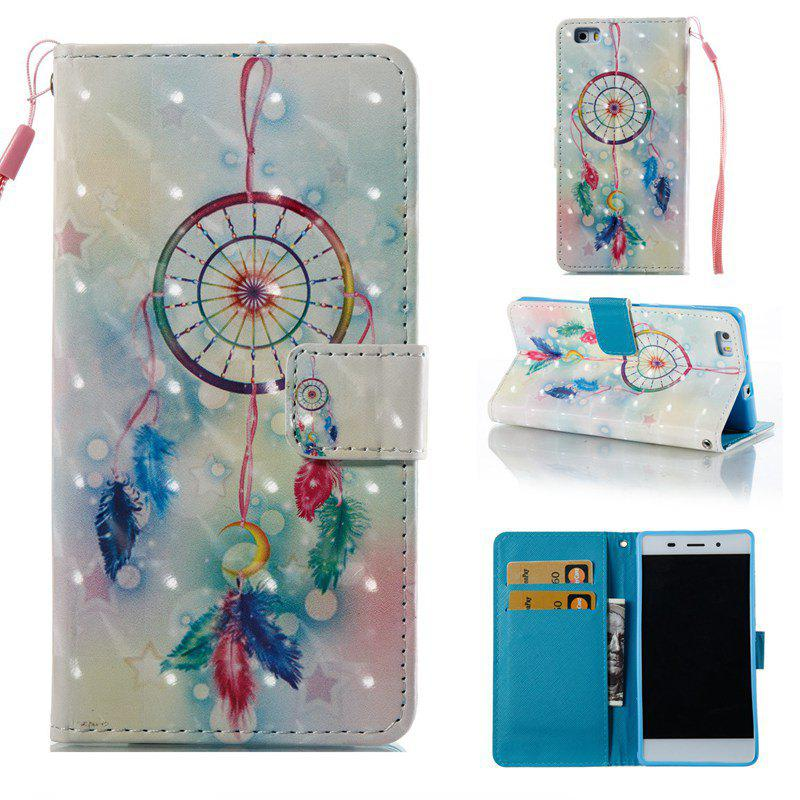 Sale Feather Wind Chimes 3D Painted Pu Phone Case for Huawei P8 Lite