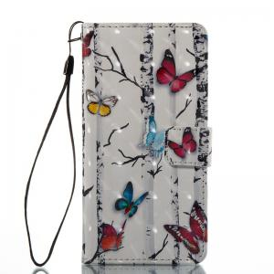 Butterflies 3D Painted Pu Phone Case for Huawei P8 Lite -
