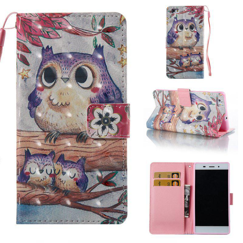 Shops Purple Owl 3D Painted Pu Phone Case for Huawei P8 Lite