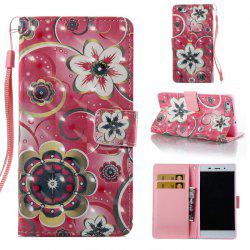 Tulip Flower 3D Painted Pu Phone Case for Huawei P8 Lite -