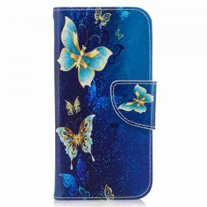 Golden Butterfly Pu Phone Case for iPhone 7 -