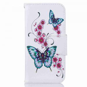 Peach Butterfly Pu Phone Case pour iPhone 7 -