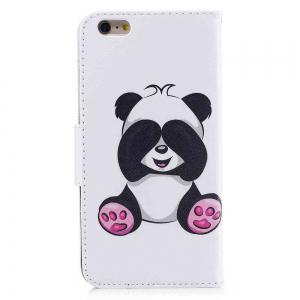 Giant Panda Painted Pu Phone Case for iPhone 6S Plus 6 Plus -