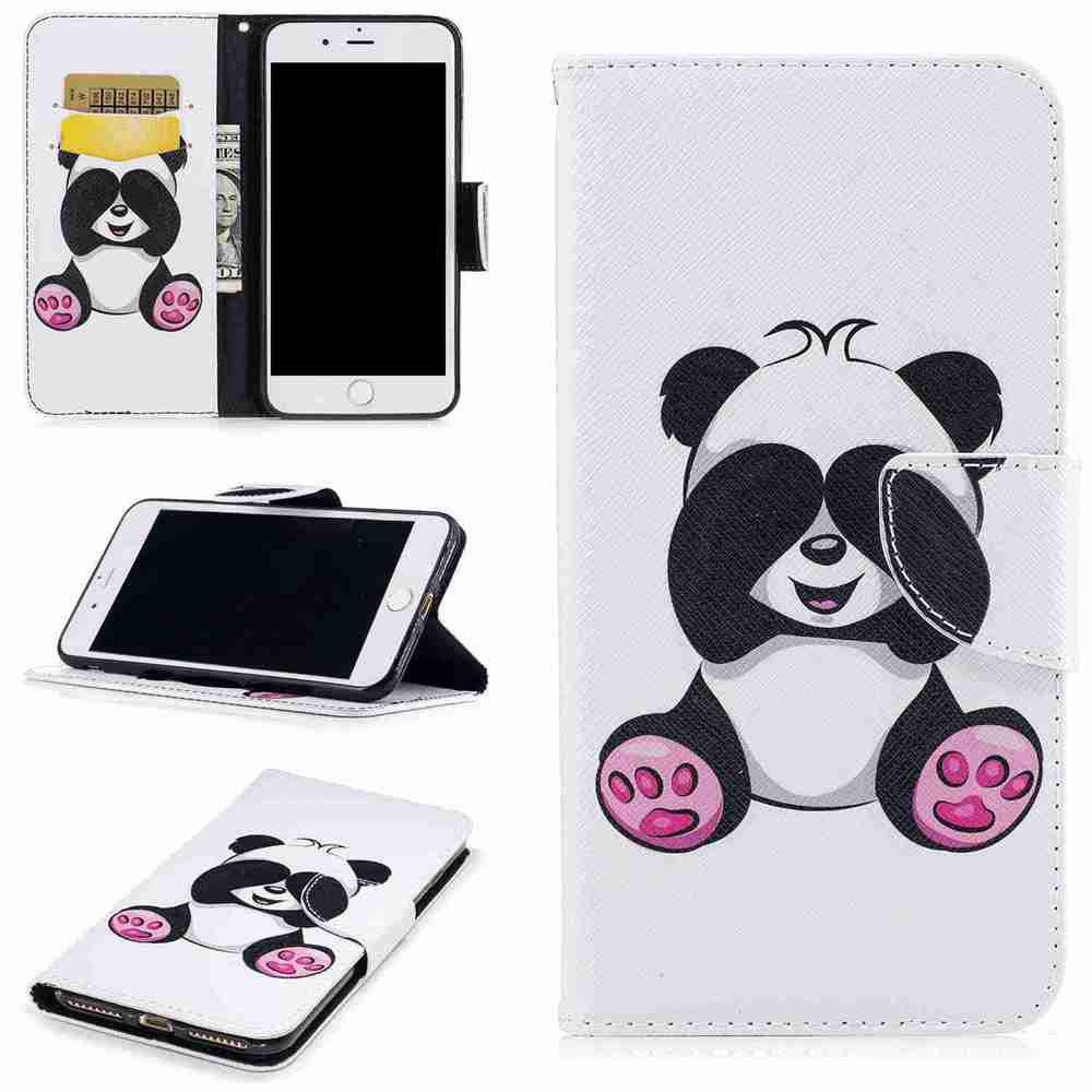 Best Giant Panda Painted Pu Phone Case for iPhone 6S Plus 6 Plus