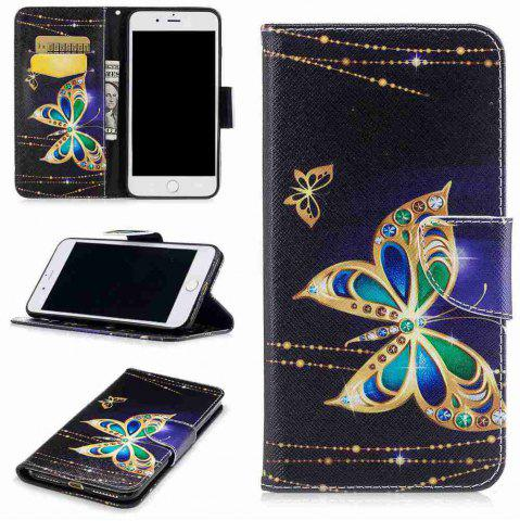Big Butterfly Painted Pu Phone Case для iPhone 5S / Se