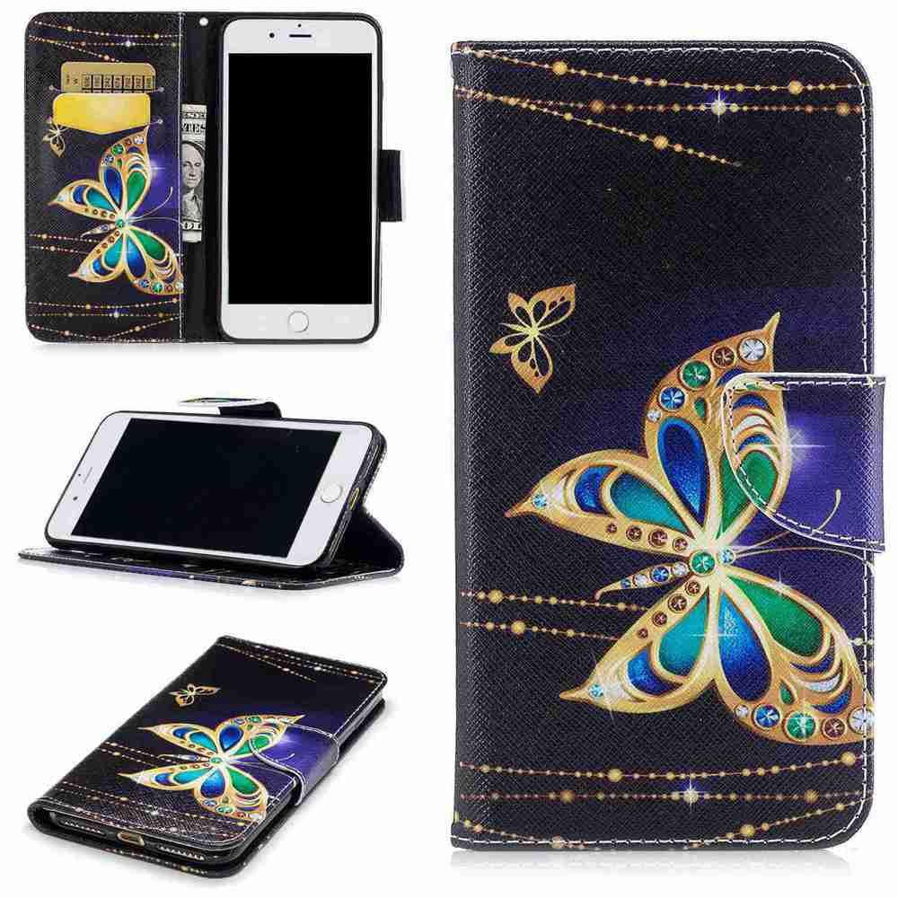 Best Big Butterfly Painted Pu Phone Case for iPhone 5S/Se