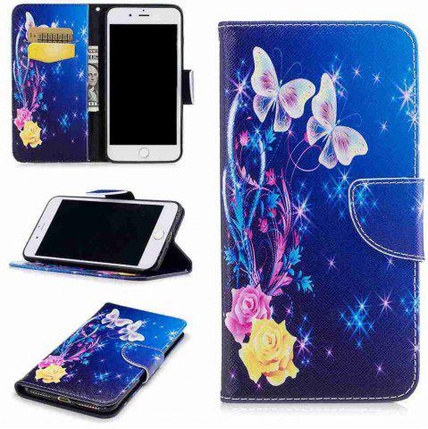Discount Yellow Butterfly Painted Pu Phone Case for iPhone 5S/Se