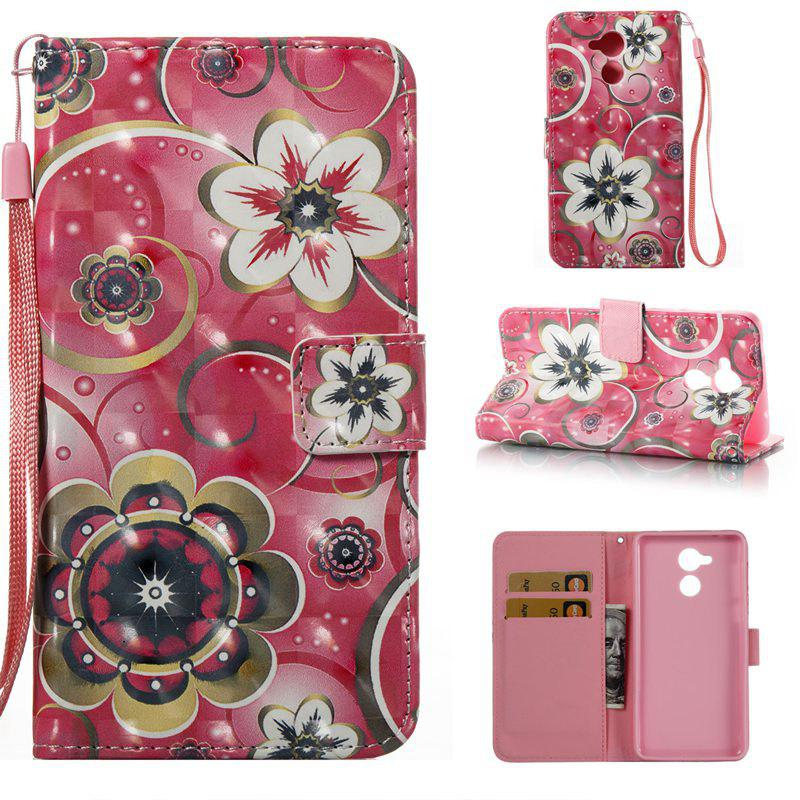Latest Tulip Flower 3D Painted Pu Phone Case for HUAWEI Honor 6C