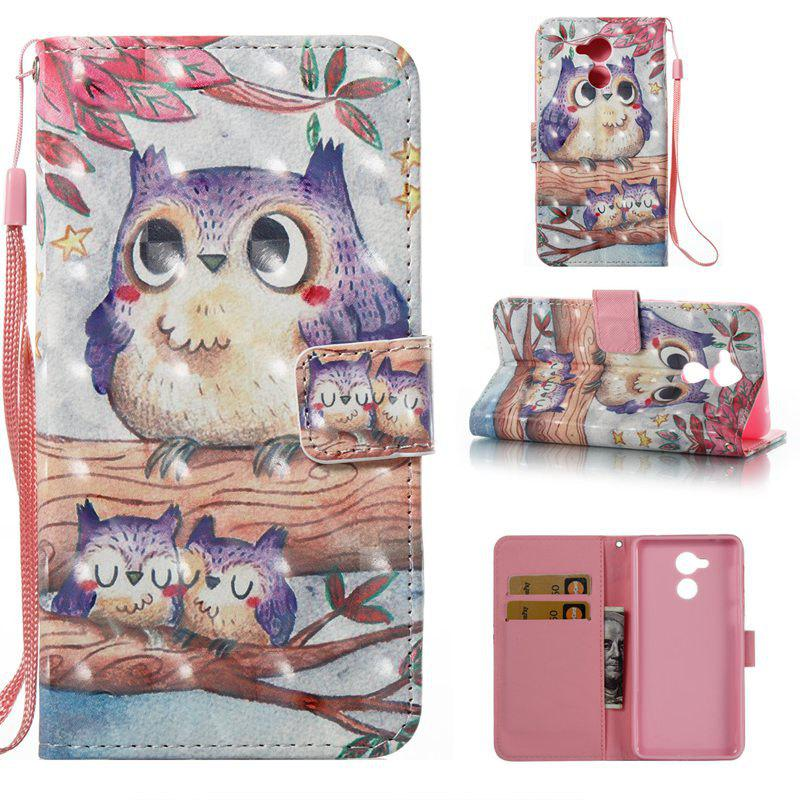 Buy Purple Owl 3D Painted Pu Phone Case for HUAWEI Honor 6C